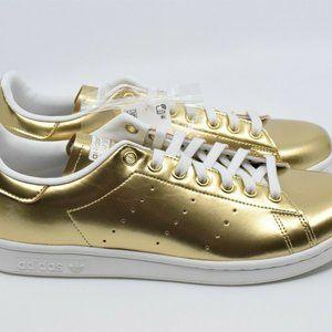 Adidas Stan Smith Metallic Gold Sneakers Rare FV42